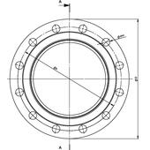 Компенсатор сильфонный фланцевый для полиэтиленовых труб (РЕ-100) 2ST-01